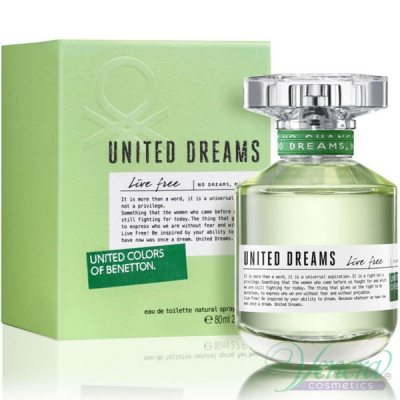 Benetton United Dreams Live Free EDT 80ml за Жени Дамски Парфюми
