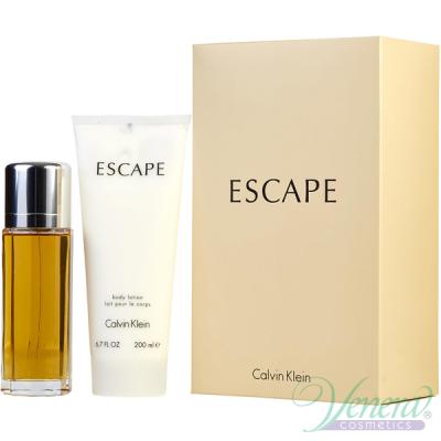 Calvin Klein Escape Комплкт (EDP 100ml + BL 200ml) за Жени Дамски Комплекти