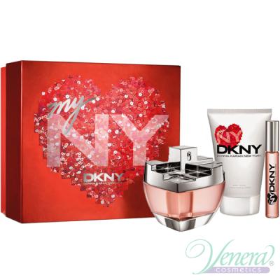 DKNY My NY Комплект (EDP 100ml + BL 100ml + Roll On 10ml) за Жени Дамски Комплекти