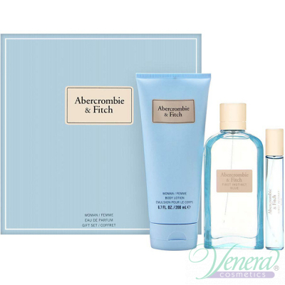 Abercrombie & Fitch First Instinct Blue for Her Комплект (EDP 100ml + EDP 15ml + BL 200ml) за Жени Дамски Комплекти