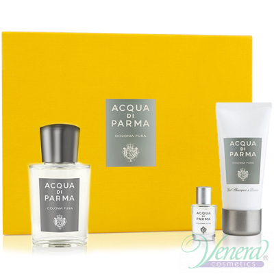 Acqua di Parma Colonia Pura Комплект (EDC 100ml + EDC 5ml + SG 50ml) за Мъже и Жени Унисекс Комплекти