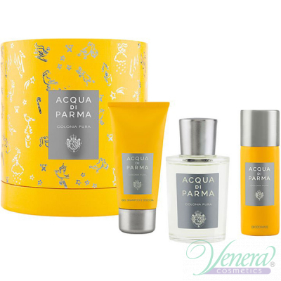 Acqua di Parma Colonia Pura Set (EDC 100ml + SG 50ml + Deo Spray 50ml) για άνδρες και Γυναικες