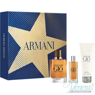 Armani Acqua Di Gio Absolu Set (EDP 75ml +EDP 15ml + SG 75ml) pentru Bărbați Seturi