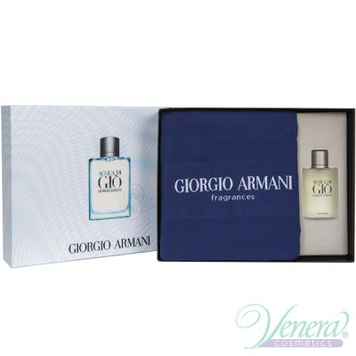 Armani Acqua Di Gio Комплект (EDT 100ml + Towel) за Мъже Мъжки Комплекти