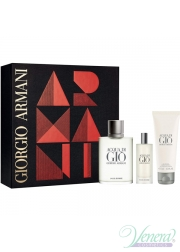 Armani Acqua Di Gio Set (EDT 100ml + EDT 15ml + SG 75ml) για άνδρες Ανδρικά Σετ