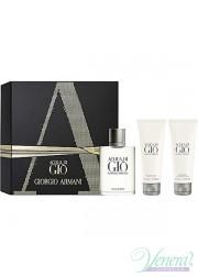 Armani Acqua Di Gio Set (EDT 100ml + AS Balm 75ml + SG 75ml) για άνδρες Ανδρικά Σετ