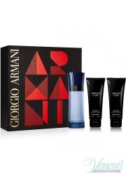 Armani Code Colonia Set (EDT 75ml + SG 75ml + SG 75ml) για άνδρες Ανδρικά Σετ