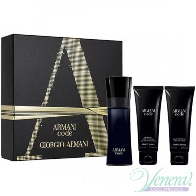 Armani Code Комплект (EDT 75ml + AS Balm 75ml + SG 75ml) за Mъже