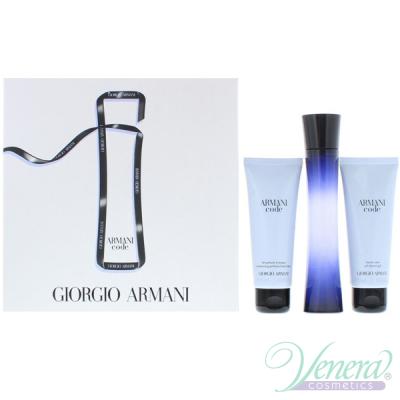 Armani Code Комплект (EDP 75ml + Body Lotion 75ml + Shower Gel 75ml) за Жени Дамски комплекти