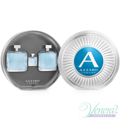 Azzaro Chrome Комплект (EDT 100ml + AS Balm 100ml + EDT 7ml) за Мъже