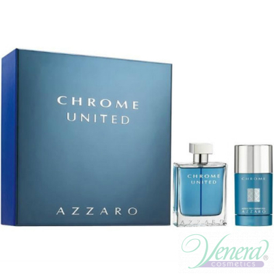 Azzaro Chrome United Комплект (EDT 50ml + Deo Stick 75ml) за Мъже