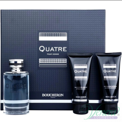 Boucheron Quatre Pour Homme Комплект (EDT 100ml + AS Balm 100ml + SG 100ml) за Мъже Мъжки Комплекти