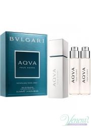 Bvlgari Aqva Pour Homme Refillable Travel EDT 3x15ml για άνδρες Ανδρικά Αρώματα