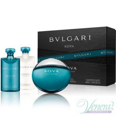 Bvlgari Aqva Pour Homme Комплект (EDT 50ml + SG 40ml + ASB 40ml) за Мъже За Мъже