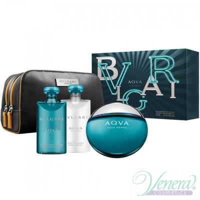 Bvlgari Aqva Pour Homme Комплект (EDT 100ml + ASB 75ml + SG 75ml + Bag) за Мъже