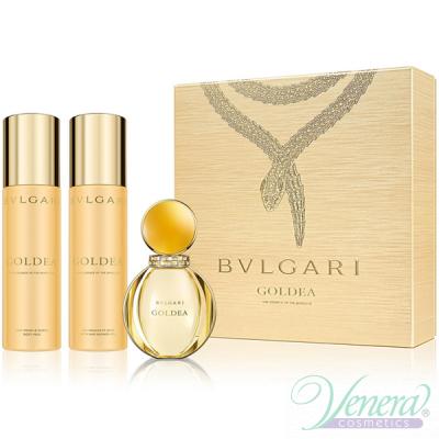 Bvlgari Goldea Комплект (EDP 50ml + BL 200ml + SG 200ml) за Жени Дамски Комплекти
