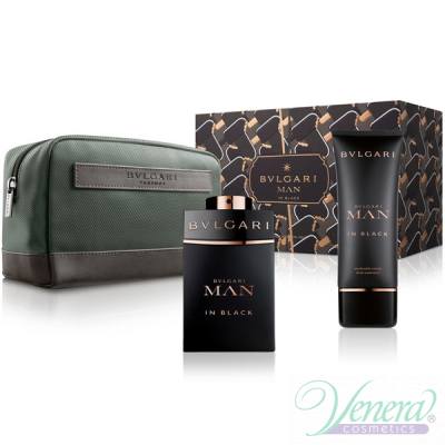 Bvlgari Man In Black Комплект (EDP 100ml + AS Balm 100ml + Bag) за Мъже