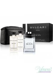 Bvlgari Man Set (EDT 100ml + AS Balm 75ml + SG 75ml + Bag) για άνδρες Αρσενικά Σετ