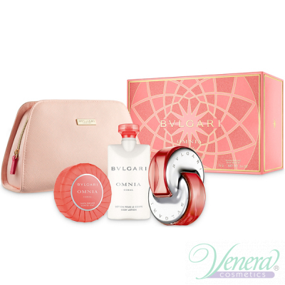Bvlgari Omnia Coral Комплект (EDT 65ml + BL 75ml + Soap + Pouch) за Жени