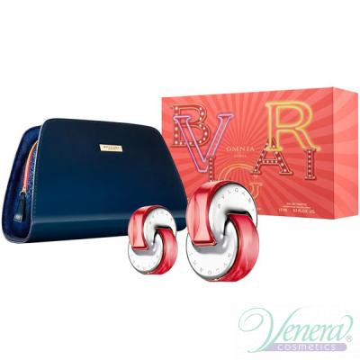 Bvlgari Omnia Coral Комплект (EDT 65ml + EDT 15ml + Bag)  за Жени Дамски Комплекти