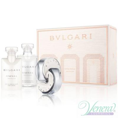 Bvlgari Omnia Crystalline Комплект (EDT 40ml + BL 40ml + SG 40ml) за Жени За Жени