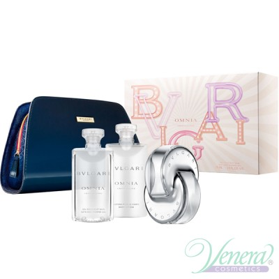 Bvlgari Omnia Crystalline Set (EDT 65ml + BL 75ml + SG 75ml + Bag) για γυναίκες
