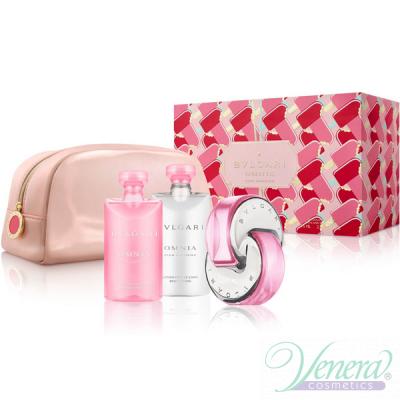 Bvlgari Omnia Pink Sapphire Комплект (EDT 65ml + BL 75ml + SG 75ml + Bag) за Жени Дамски Комплекти