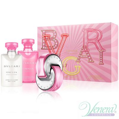 Bvlgari Omnia Pink Sapphire Комплект (EDT 40ml + SG 75ml + BL 40ml) за Жени Дамски Комплекти
