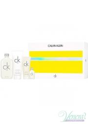 Calvin Klein CK One Set (EDT 200ml + EDT 15ml + BL 100ml + SG 100ml) για άνδρες και Γυναικες Unisex's Gift Set