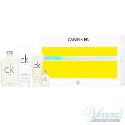 Calvin Klein CK One Set (EDT 200ml + EDT 15ml + BL 100ml + SG 100ml) pentru Bărbați și Femei Seturi