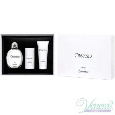Calvin Klein Obsessed For Men Комплект (EDT 125ml + Deo Stick 75ml + SG 100ml) за Мъже