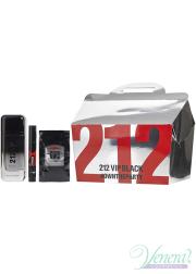 Carolina Herrera 212 VIP Black Set (EDP 100ml + EDP 3ml + 12 x SG 8ml) για άνδρες Ανδρικά Σετ