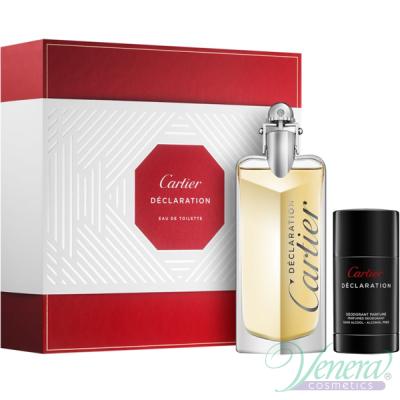 Cartier Declaration Комплект (EDT 100ml + Deo Stick 75ml) за Мъже Мъжки Комплекти