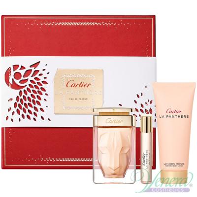 Cartier La Panthere Комплект (EDP 75ml + EDP 9ml + BL 100ml) за Жени