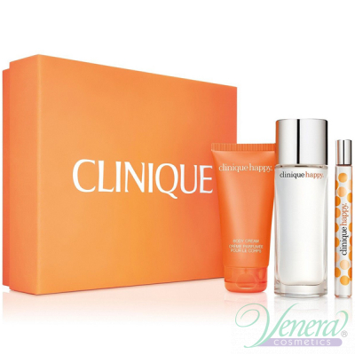 Clinique Happy Комплект (EDP 50ml + EDP 10ml + Body Cream 75ml) за Жени