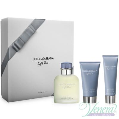 D&G Light Blue Комплект (EDT 125ml + AS Balm 75ml + SG 50ml) за Мъже Мъжки Комплекти