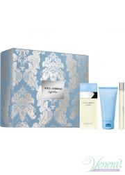 Dolce&Gabbana Light Blue Set (EDT 100ml + Body Cream 75ml + EDT 10ml) για γυναίκες Γυναικεία σετ
