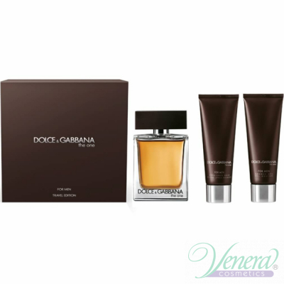 D&G The One Комплект (EDT 100ml + AS Balm 50ml + SG 50ml) за Мъже Travel Edition Мъжки Комплекти