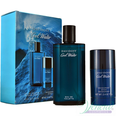 Davidoff Cool Water Комплект (EDT 125ml + Deo Stick 75ml) за Мъже Мъжки Комплекти
