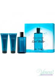 Davidoff Cool Water Set (EDT 125ml + AS Balm 75ml + SG 75ml) for Men Men's Gift sets