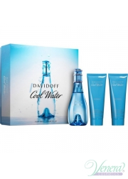 Davidoff Cool Water Set (EDT 100ml + BL 75ml + SG 75ml) για γυναίκες Γυναικεία Σετ