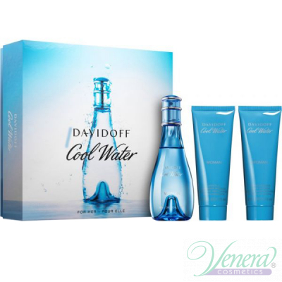 Davidoff Cool Water Комплект (EDT 100ml + BL 75ml + SG 75ml) за Жени