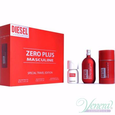 Diesel Zero Plus Комплект (EDT 75ml + Deo Stick 75ml + Plus Plus EDT 30ml) за Мъже Мъжки Комплекти
