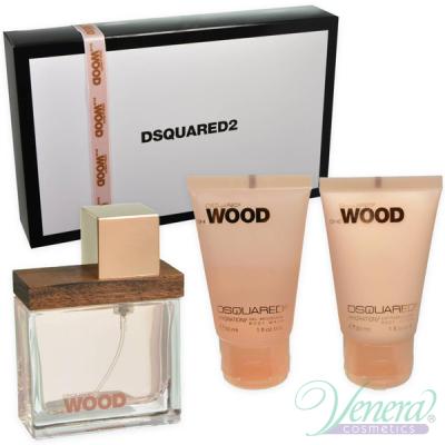 Dsquared2 She Wood Комплект (EDP 30ml + BL 30ml + SG 30ml) за Жени Дамски Комплекти