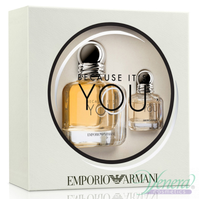 Emporio Armani Because It's You Комплект (EDP 50ml + EDP 7ml) за Жени Дамски Комплекти