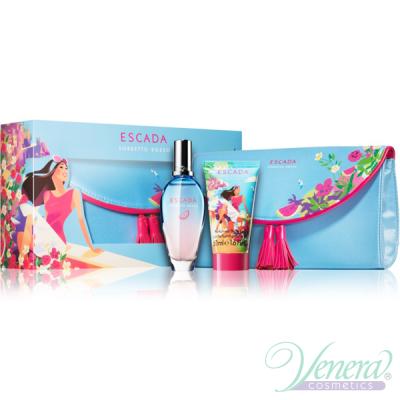 Escada Sorbetto Rosso Комплект (EDT 50ml + BL 50ml + Несесер) за Жени Дамски Комплекти