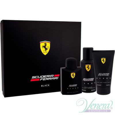 Ferrari Scuderia Ferrari Black Комплект (EDT 125ml + Deo Spray 150ml + SG 150ml) за Мъже Мъжки Комплекти