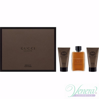 Gucci Guilty Absolute Комплект (EDP 50ml + AS Balm 50ml + SG 50ml) за Мъже