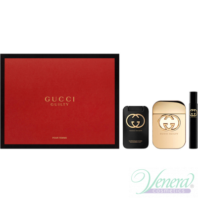 Gucci Guilty Комплект (EDT 75ml + EDT 7.5ml + BL 100ml) за Жени
