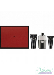 Gucci Guilty Pour Homme Set (EDT 90ml + After Shave Balm 75ml + SG 50ml) για άνδρες Αρσενικά Σετ